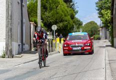 Велосипедист Бен Hermans - Критерий du Dauphine 2017 стоковое фото