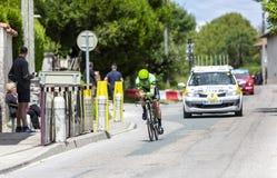 Велосипедист Брендан Canty - Критерий du Dauphine 2017 стоковые изображения