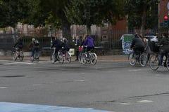Велосипедист в Копенгагене Дании стоковое изображение