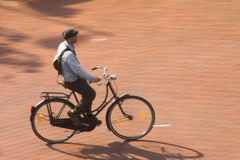 велосипедист города Стоковое фото RF