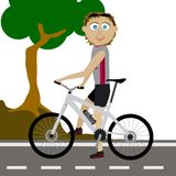Велосипедист горы вектора Стоковые Фотографии RF