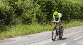 Велосипедист Натан Браун - Критерий du Dauphine 2017 стоковая фотография rf