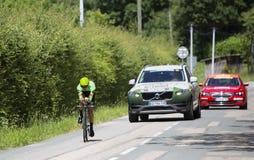 Велосипедист Натан Браун - Критерий du Dauphine 2017 стоковое изображение rf