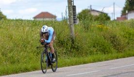 Велосипедист Оливер Naesen - Критерий du Dauphine 2017 стоковые фото