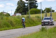 Велосипедист Оливер Naesen - Критерий du Dauphine 2017 стоковое изображение rf