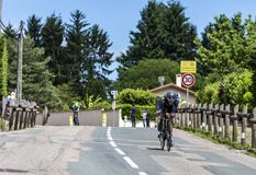 Велосипедист Ричард Carapaz - Критерий du Dauphine 2017 стоковые фотографии rf