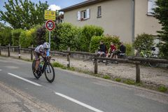 Велосипедист Самюэль Dumoulin - Критерий du Dauphine 2017 Стоковая Фотография