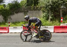 Велосипедист Томас Voeckler - Критерий du Dauphine 2017 Стоковые Изображения RF