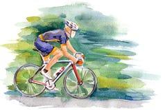 Велосипедист иллюстрация вектора