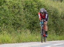 Велосипедист Danilo Wyss - Критерий du Dauphine 2017 стоковое изображение