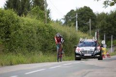 Велосипедист Danilo Wyss - Критерий du Dauphine 2017 стоковые фото