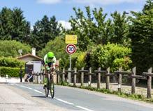 Велосипедист Davide Formolo - Критерий du Dauphine 2017 стоковое изображение rf