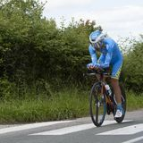Велосипедист Delio Fernandez Cruz - Критерий du Dauphine 2017 стоковое изображение