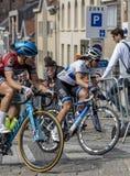 Велосипедист Marta Bastianelli женщины - путешествие Фландрии 2019 стоковое изображение rf