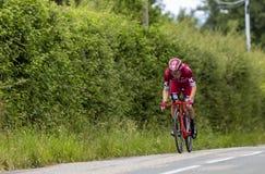Велосипедист Maurits Lammertink - Критерий du Dauphine 2017 стоковое фото
