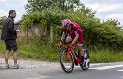 Велосипедист Maurits Lammertink - Критерий du Dauphine 2017 стоковая фотография