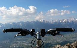 велосипедист pov Стоковая Фотография RF
