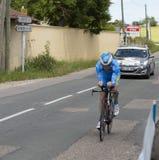 Велосипедист Quentin Pacher - Критерий du Dauphine 2017 стоковые изображения