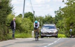Велосипедист Sergey Chernetskiy - Критерий du Dauphine 2017 стоковые фотографии rf