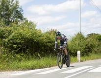 Велосипедист Silvio Herklotz - Критерий du Dauphine 2017 стоковая фотография