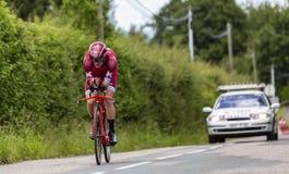 Велосипедист Sven Эрик Bystrom - Критерий du Dauphine 2017 стоковое изображение