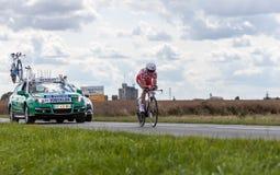 Велосипедист Thomas Voeckler Стоковые Изображения