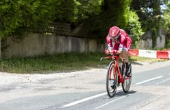 Велосипедист Tiago Machado - Критерий du Dauphine 2017 стоковое фото rf