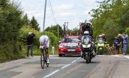 Велосипедист Tony Мартин - Критерий du Dauphine 2017 стоковые фотографии rf