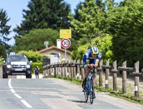 Велосипедист Yoann Offredo - Критерий du Dauphine 2017 стоковая фотография