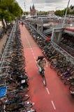 Велосипеды в Амстердам Стоковое фото RF