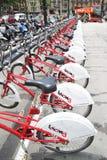 Велосипеды в Барселоне Стоковое фото RF