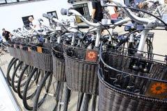 Велосипеды в Дании Стоковые Фото