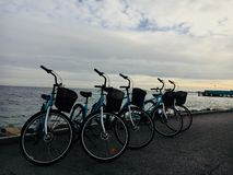 Велосипеды в Копенгагене стоковое фото rf