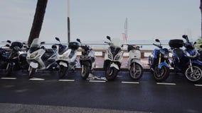 Велосипеды в Монако в городе лета Монако Монте-Карло акции видеоматериалы