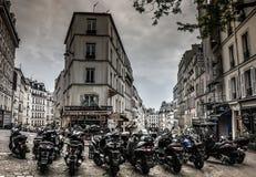 Велосипеды в старом городе, Париже Стоковое Изображение RF