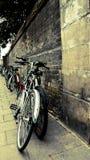 Велосипеды в cambridge Стоковые Фотографии RF