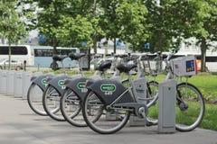 Велосипеды города Любляны Стоковая Фотография RF