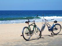 велосипеды пляжа Стоковые Фото