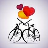велосипеды чешут вектор 2 Стоковые Фото