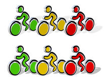 велосипеды 3d любят Стоковое Фото
