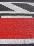 велосипед асфальта свеже клал дорогу красного цвета путя Стоковые Изображения