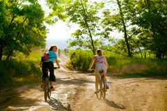 велосипед велосипедисты outdoors ослабляют Стоковое Фото