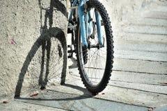 Велосипед в влюбленности Стоковые Изображения