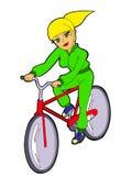 велосипед девушка Бесплатная Иллюстрация