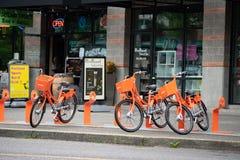 Велосипед деля программу BikeTown стоковые изображения