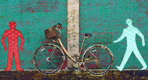 велосипед идет стоп Стоковое Изображение