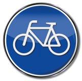 Велосипед и пешеход знака Стоковое Фото
