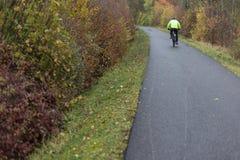 велосипед и части на внешней тренировке на туманный день в ноябре стоковая фотография rf