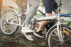 Велосипед катания велосипедиста людей спорта Стоковая Фотография