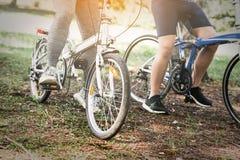 Велосипед катания велосипедиста людей спорта Стоковое Изображение RF